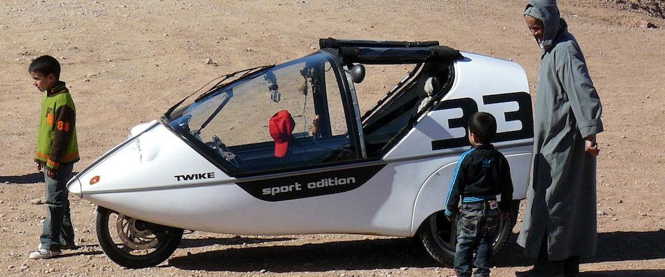 Das erste zugelassene E-Fahrzeug in Marokko: Das TWIKE